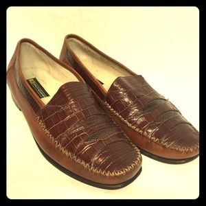 Snakeskin loafers sz 13